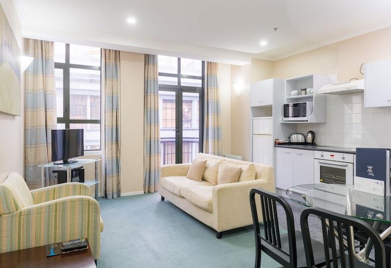 Aspect Apartments, Wellington, Apartmán, 2 spálne, nefajčiarska izba, Obývačka