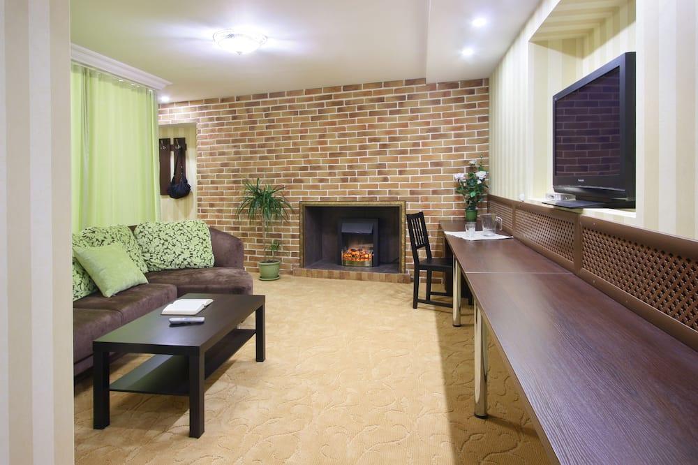 Suite Júnior, 1 cama de casal com sofá-cama - Sala de Estar