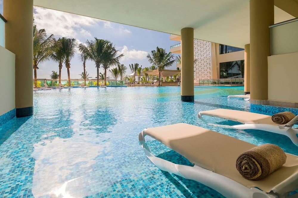 Apartmá, 3 ložnice, orientovaný směrem k oceánu (Swim Up) - Balkón