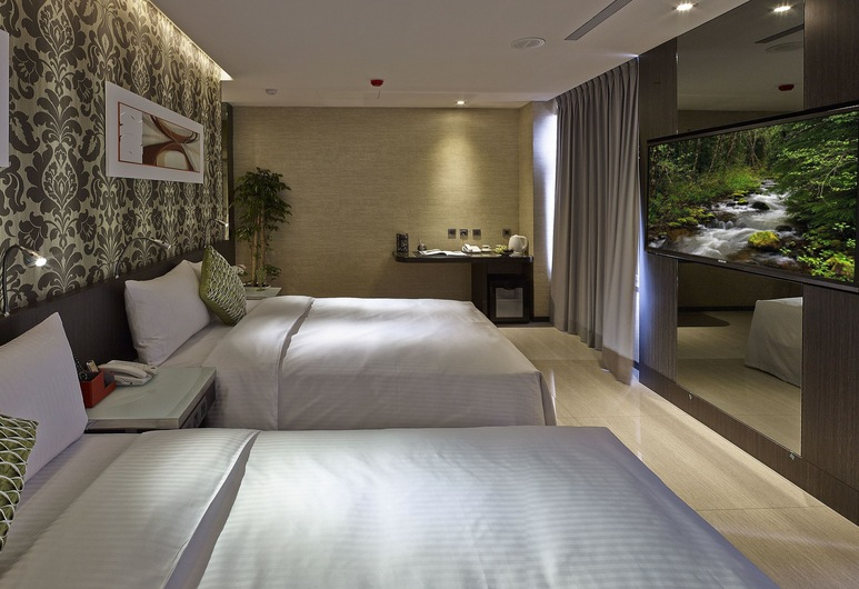 Beauty Hotels Taipei - Hotel B7, Taipei, Luxe vierpersoonskamer (Partially with Skylight), Kamer