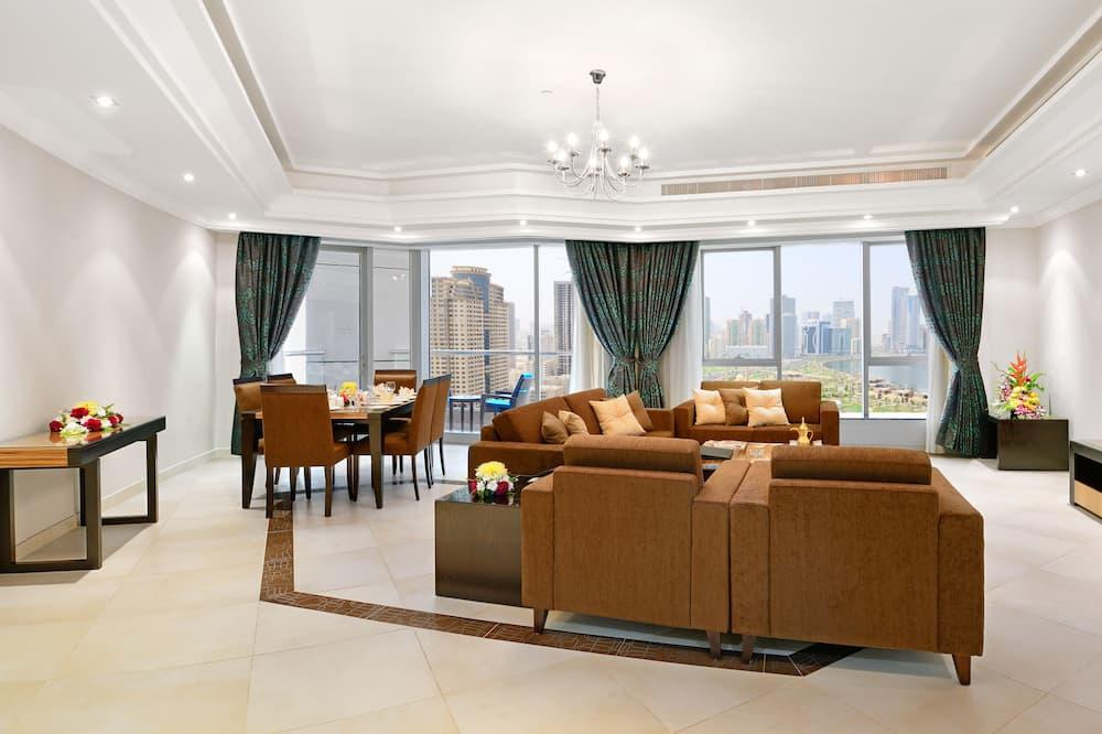 Departamento Deluxe, 3 habitaciones, vista a la laguna - Sala de estar