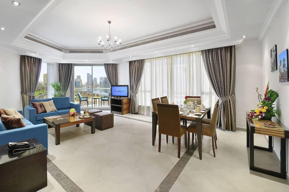 Departamento Deluxe, 2 habitaciones, vista a la laguna - Sala de estar