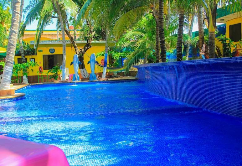 Hotel Estero y Mar, San Luis Talpa, Piscina all'aperto