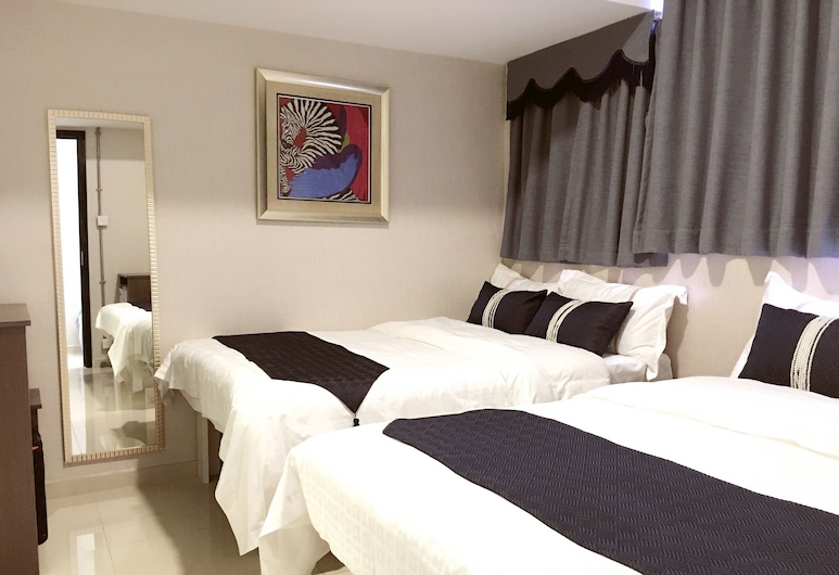California Hotel, Kowloon, Chambre Double, 2 lits doubles, Chambre