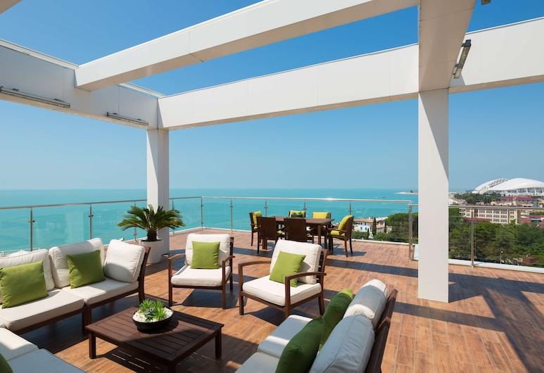 Radisson Collection Paradise Resort and Spa, Sochi, Adlersky, Prezidenta luksusa numurs, terase, Viesu numurs