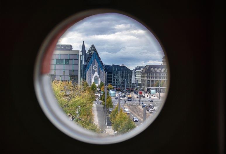 AppartementHotel SchlafGut Leipzig, Leipzig, Superior dubbelrum, Utsikt mot staden