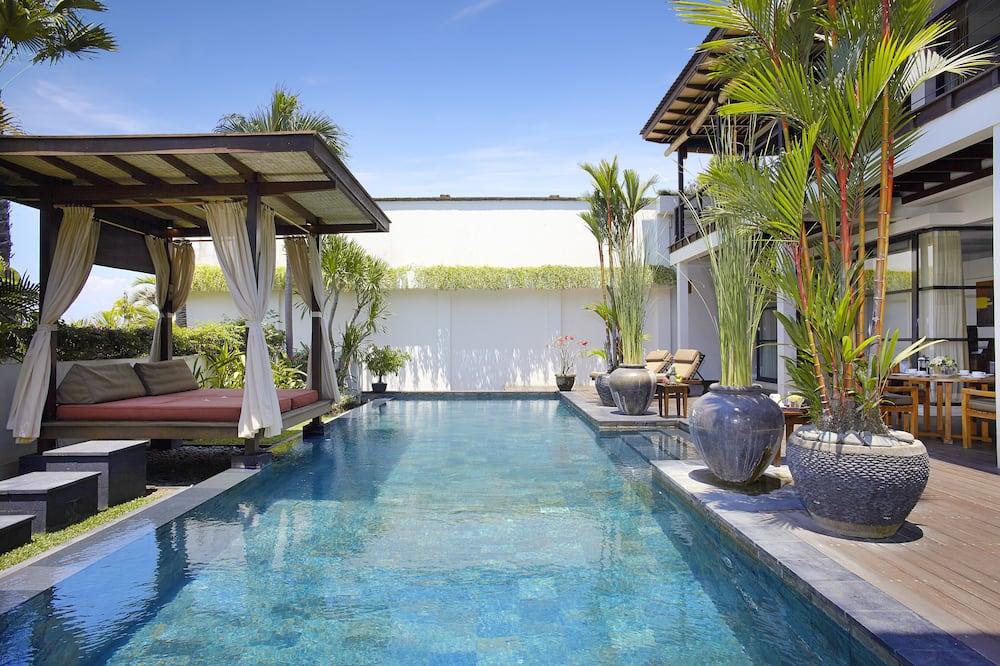 Luxusní vila, 4 ložnice, soukromý bazén, částečný výhled na moře - Výhled z pokoje
