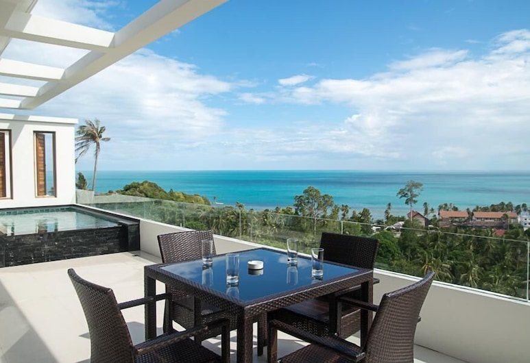 Tropical Sea View Residence, Koh Samui, 2 Bedrooms Penthouse Apartment, Terrace/Patio