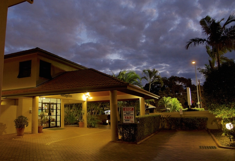 Pegasus Motor Inn and Serviced Apartments, Hamilton, Fachada del hotel