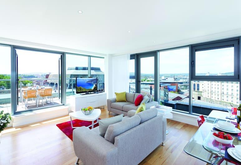 SACO Bristol - Broad Quay, Bristol, Apartment, 3 Bedrooms, Ruang Tamu