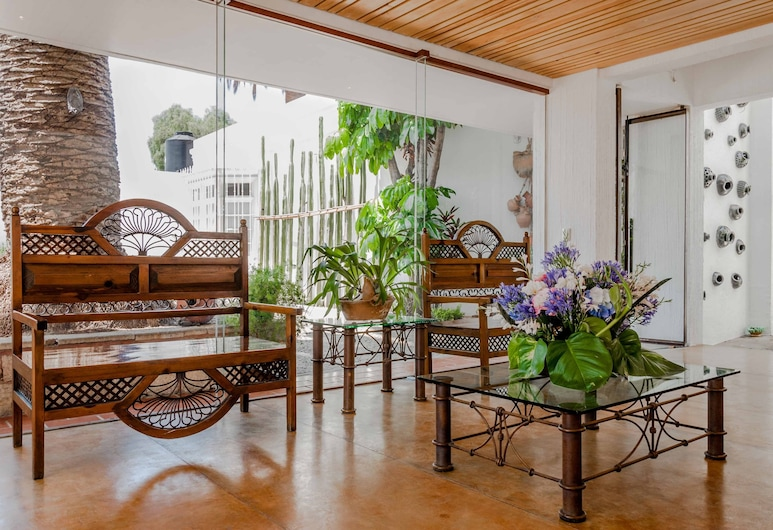 Hotel Boutique Casa los Cantaros, Oaxaca, Posezení ve vstupní hale