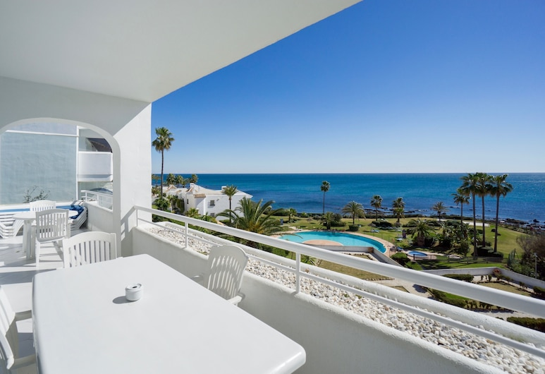 Miraflores Beach & Country Club, Mijas, Appartement, 3 chambres, terrasse, en bord de plage, Balcon