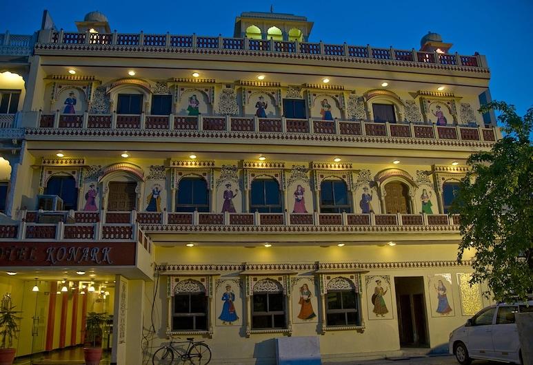 Hotel Konark, Jaipur, Fachada do hotel