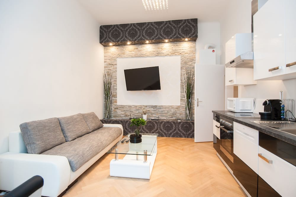 Apartamento, 1 quarto, Cozinha - Área de estar