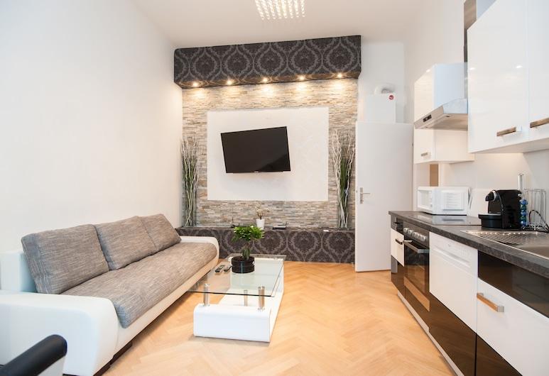 Royal Resort Apartments Blattgasse, Wiedeń, Apartament, 1 sypialnia, kuchnia, Powierzchnia mieszkalna