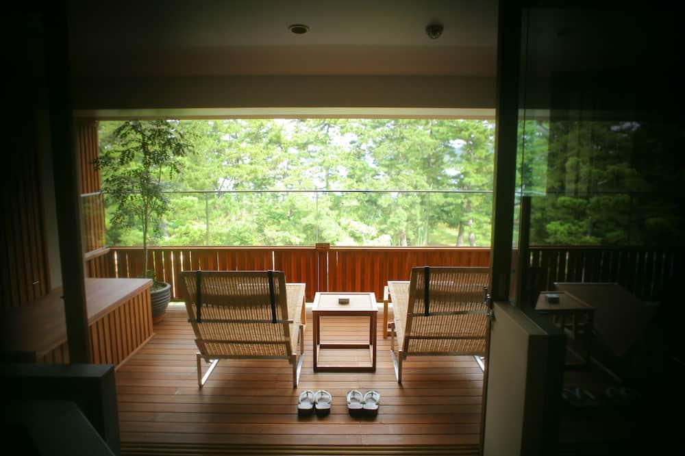 豪華開放式套房 (with Open Air Bath, SORA no MIDORI) - 涼台