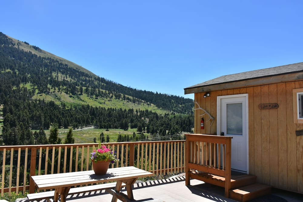 เคบินสำหรับครอบครัว, 2 ห้องนอน, ห้องครัว, วิวภูเขา - ระเบียง