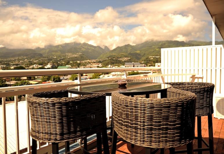 Hotel Sarah Nui, Папеэте, Двухместный номер «Делюкс» с 1 двуспальной кроватью, Терраса/ патио