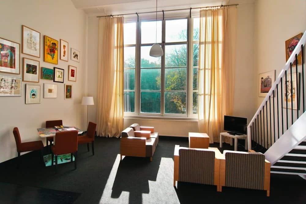 Dzīvokļnumurs, viena guļamistaba, skats uz dārzu (4 persons) - Dzīvojamā zona