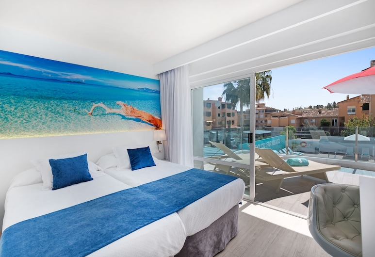 Plaza Santa Ponsa Boutique Hotel - Adults Only, Calvia, Double or Twin Room, Terrace, Guest Room