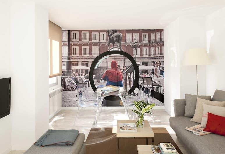 Eric Vökel Boutique Apartments - Atocha Suites, Мадрид, Апартаменты, 1 спальня, терраса, Гостиная