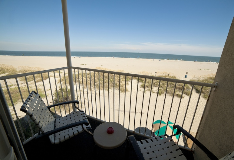 DeSoto 海灘酒店, 泰碧島, 頂級客房, 1 張特大雙人床及 1 張梳化床, 海灘景, 露台
