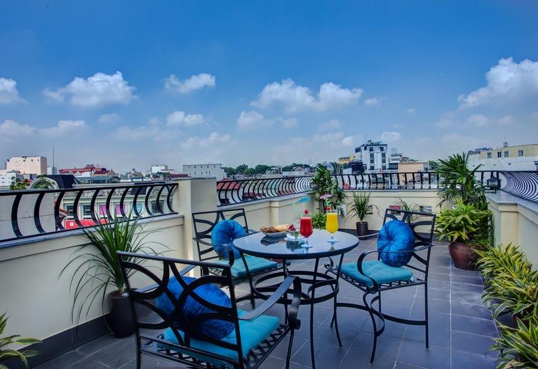Hanoi Trendy Hotel & Spa, Hanoi, Familie suite, Uitzicht op de stad, Kamer