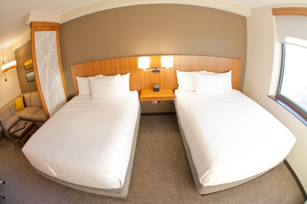 Zimmer, 1King-Bett, barrierefrei (Roll-in Shower) - Badezimmer