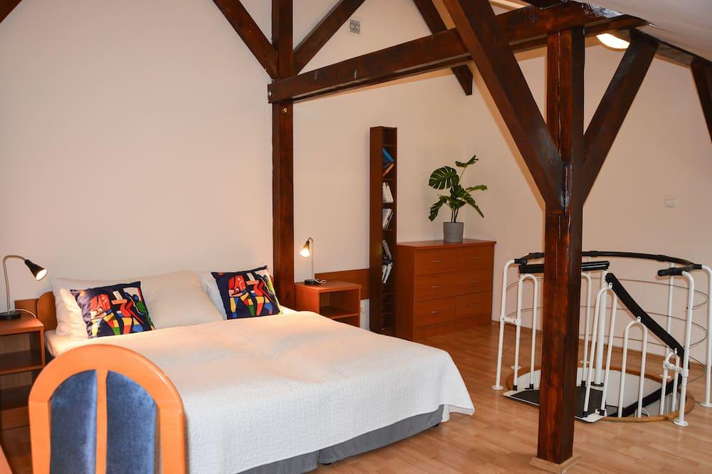Studio, 2 sypialnie, antresola - Powierzchnia mieszkalna