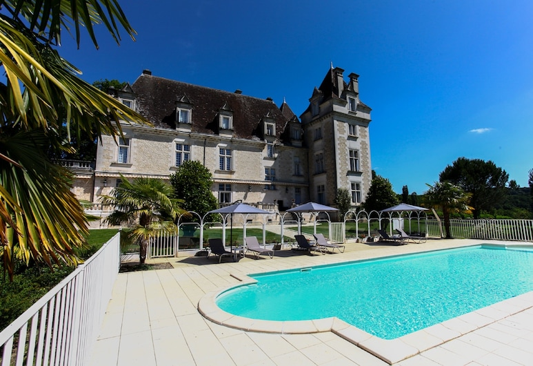 Domaine du Château de Monrecour – Hôtel et Restaurant, Saint-Vincent-de-Cosse, Udendørs pool