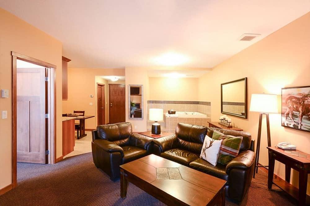 Deluxe Suite, 1 Bedroom, Hot Tub - Ruang Tamu