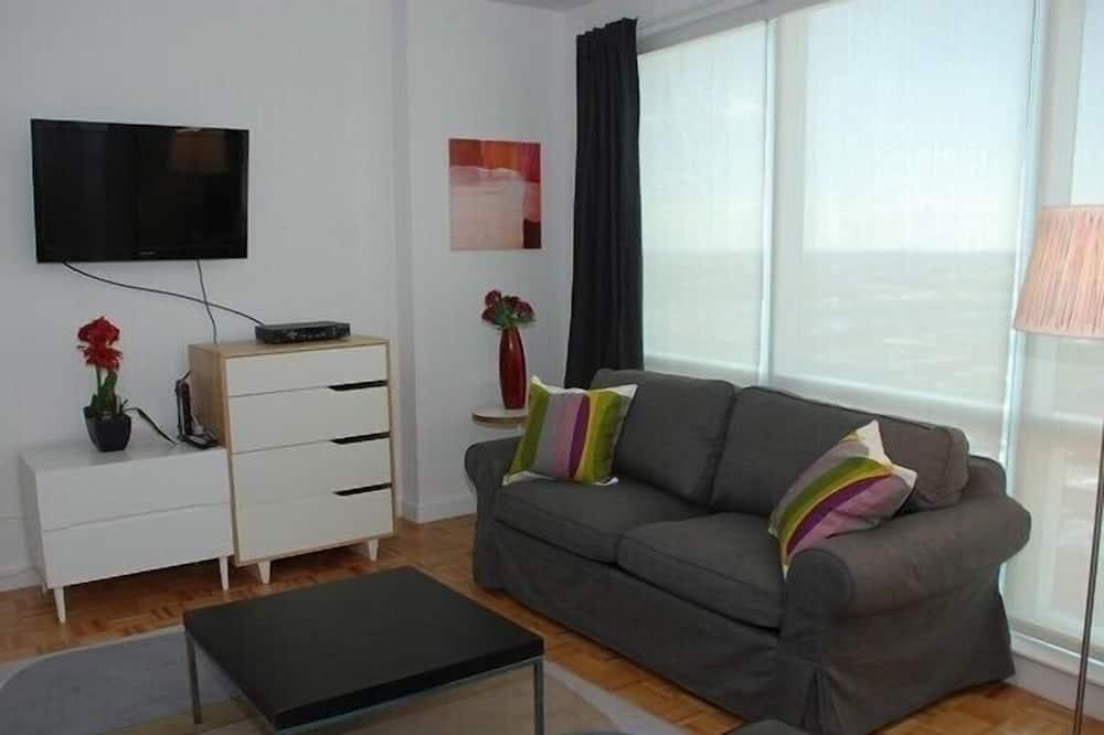 Studio, 1 giường cỡ queen và sofa giường - Phòng khách