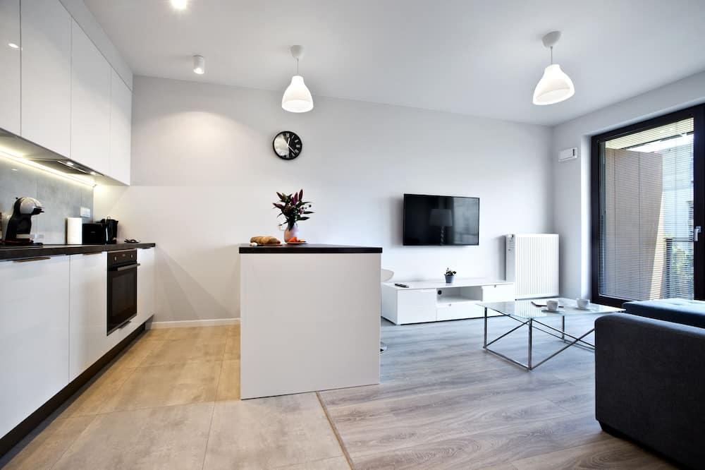 דירה דה-לוקס - חדר אורחים