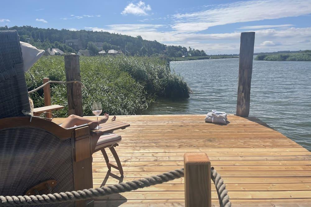Apartament romantyczny, z łazienką, widok na jezioro (Landhaus Rügen OG) - Plaża