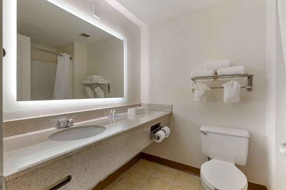 Номер, 2 двуспальные кровати «Квин-сайз», для людей с ограниченными возможностями, для некурящих - Ванная комната