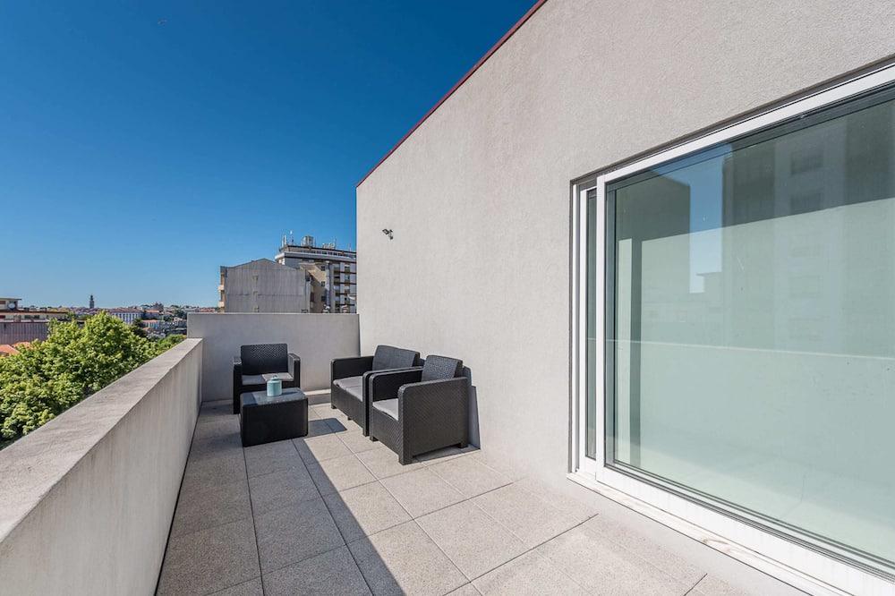 Basic-Apartment, 1Doppelbett und Schlafsofa - Balkon