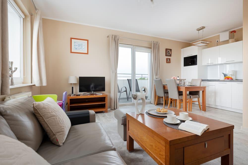 Departamento, 1 habitación, balcón, vista al mar - Sala de estar