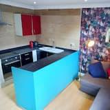 apartman, 1 queen (nagyméretű) franciaágy és egy kihúzható kanapé - Privát konyha