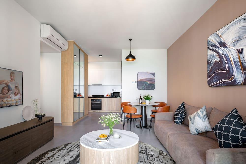 デラックス アパートメント 2 ベッドルーム - リビング エリア