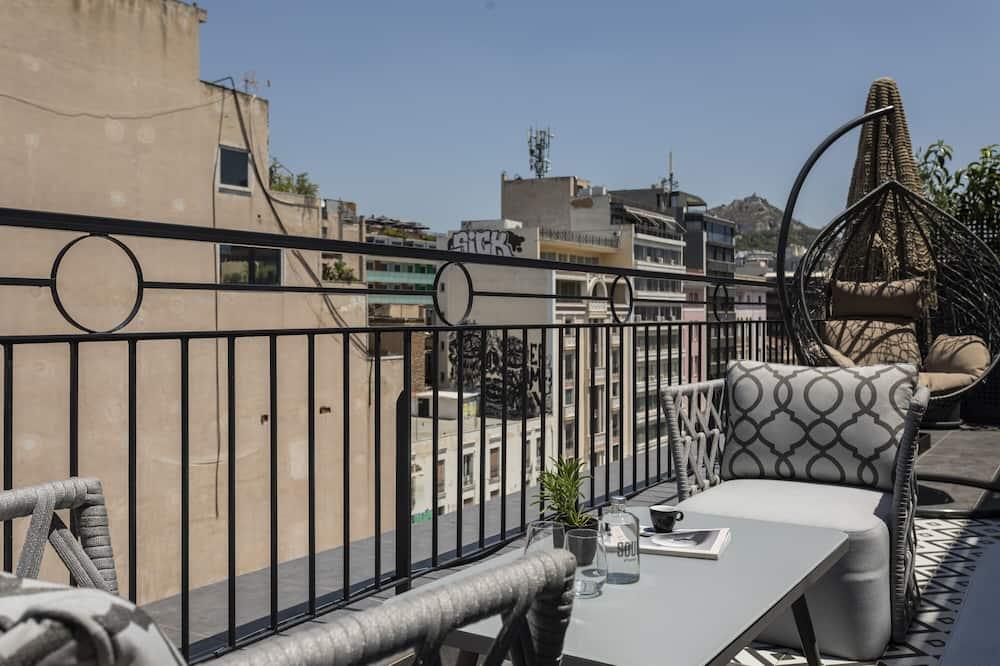 Apartament prezydencki typu Suite, 3 sypialnie, taras, widok na miasto - Balkon