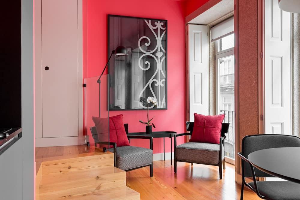 Design-Studio, 1 Schlafzimmer - Wohnbereich