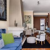Apartamento Exclusivo, 2 Quartos - Área de Estar