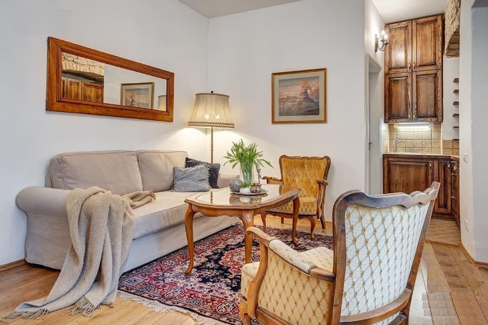 Luxury Double Room Single Use, 1 Bedroom - Living Room