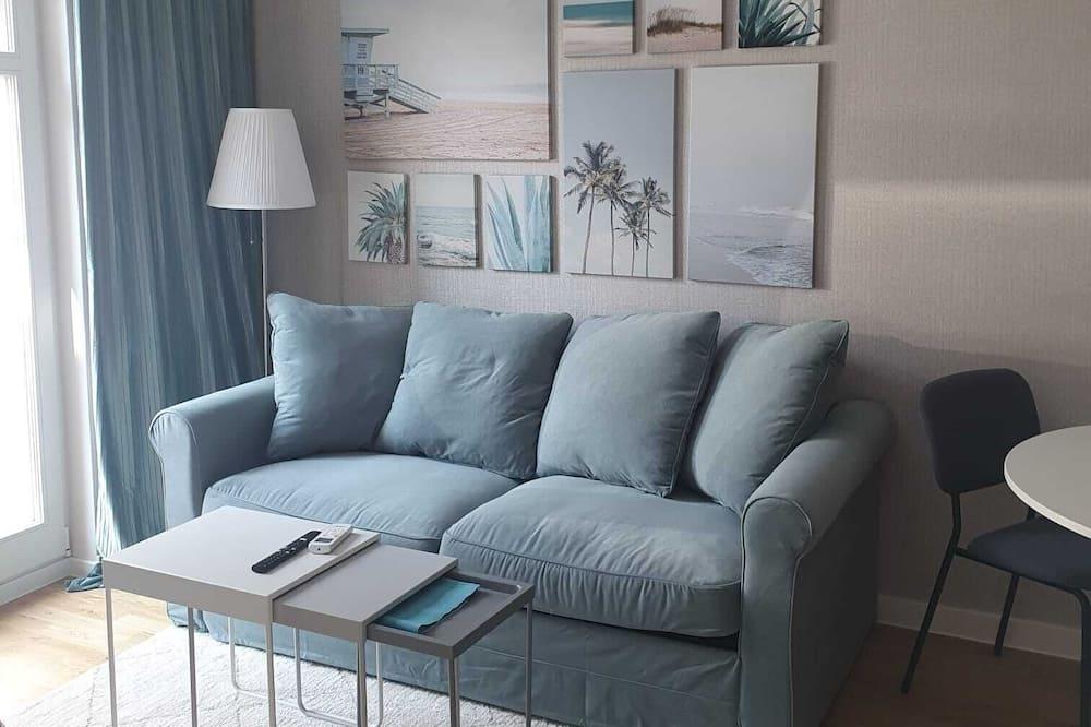 Classic-Apartment, 1 Schlafzimmer, Nichtraucher, Balkon - Wohnbereich