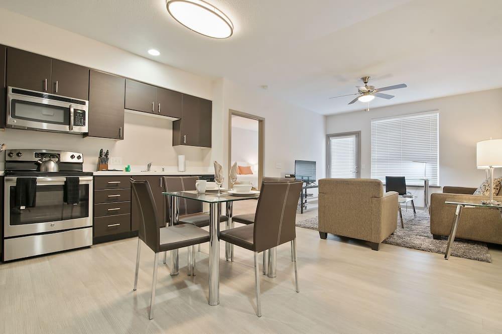 奢華公寓, 2 間臥室 - 客房內用餐