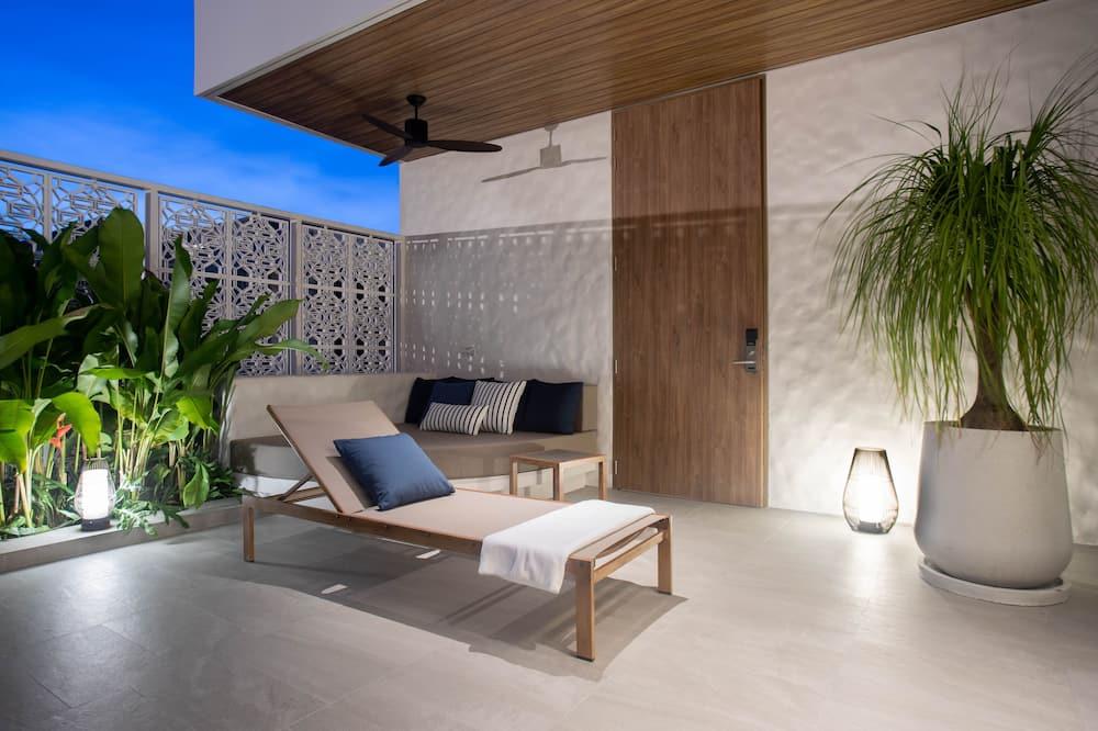 Luxury-Villa, 1 Schlafzimmer, eigener Pool - Wohnbereich