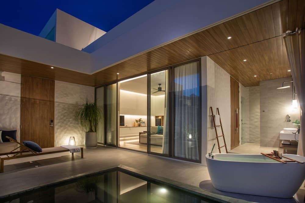 Luxury-Villa, 1 Schlafzimmer, eigener Pool - Terrasse/Patio