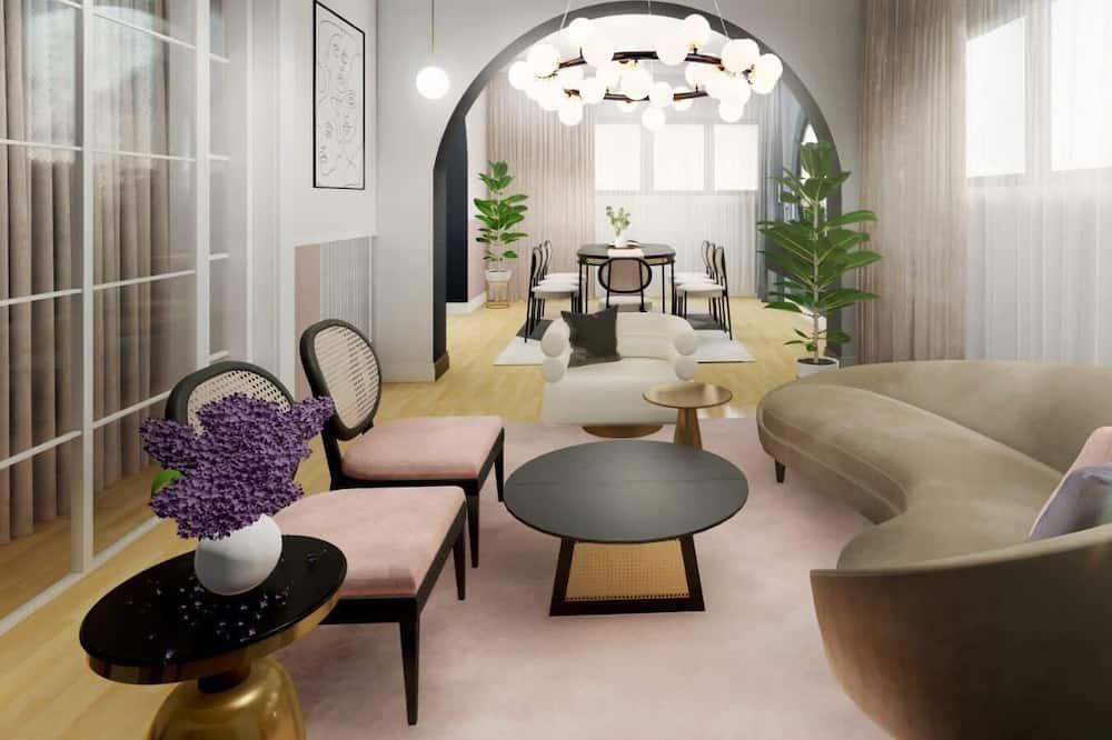 Розкішні апартаменти, 3 спальні, з балконом - Житлова площа