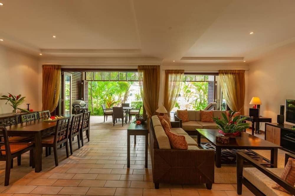 Deluxe maja, 3 magamistoaga, vaade mägedele - Lõõgastumisala
