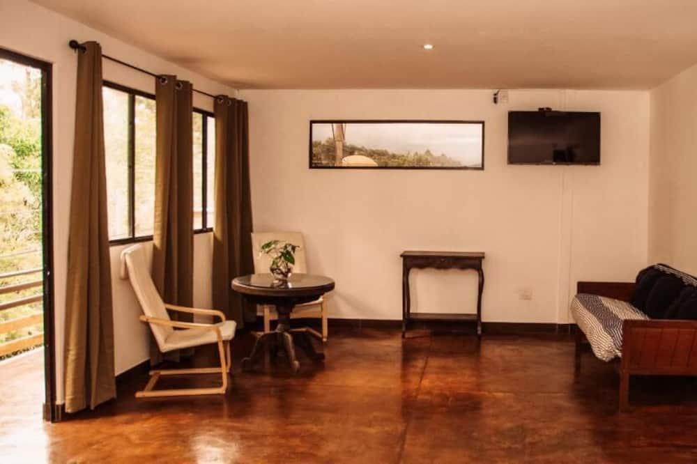 Deluxe Double Room, Balcony - Living Room